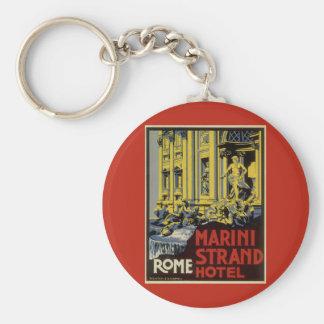 Vintage Reise, Marini Strang-Hotel, Rom, Italien Schlüsselanhänger