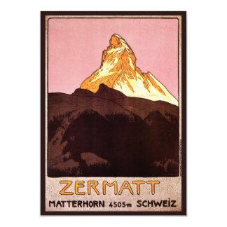 Vintage Reise, Matterhorn-Berg, die Schweiz 12,7 X 17,8 Cm Einladungskarte