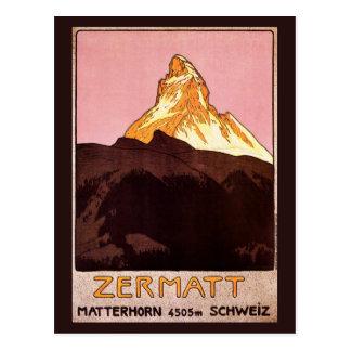 Vintage Reise, Matterhorn-Berg, die Schweiz Postkarten