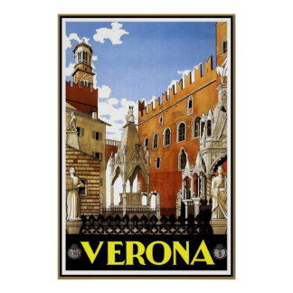 Vintage Reise-Plakat-Verona-Reise Italien Poster