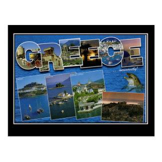Vintage Reise-Postkarte Griechenlands hallo von Postkarte