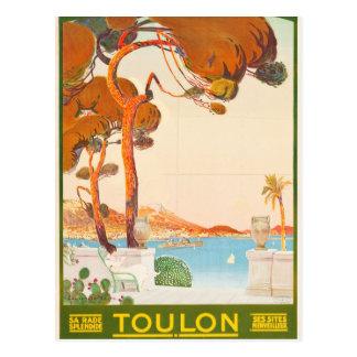 Vintage Reise Toulons Cote d'Azur Provence Alpes Postkarte