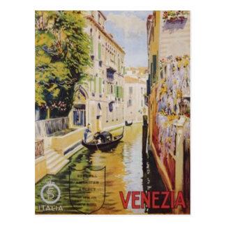 Vintage Reise Venedig, Italien - Postkarte