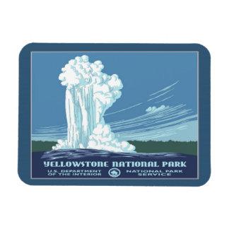 Vintage Reise Yellowstone WPA Magnet