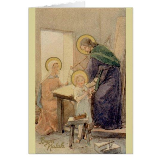 Vintage religiöse italienische Weihnachtskarte Grußkarte