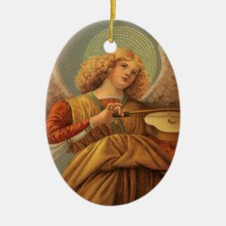 Vintage Renaissance-Kunst-Engel durch Melozzo DA Ovales Keramik Ornament