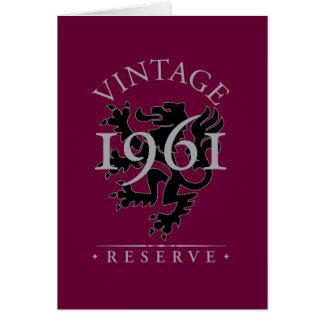 Vintage Reserve 1961 Karte