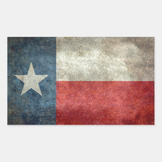 Vintage retro Art der Texas-Staatsflagge Rechteckiger Aufkleber