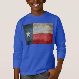Vintage retro Art der Texas-Staatsflagge T-Shirt