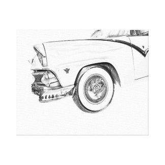 Vintage, retro Leinwand von einem Cadillac