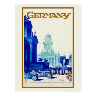 Vintage retro Reiseanzeige Berlins Deutschland Postkarte