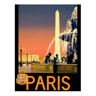 Vintage retro Reisepostkarte Frankreich Paris Postkarte