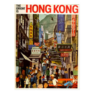 Vintage retro Reisepostkarte Hong Kong Asien Postkarte