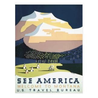 Vintage retro Reisepostkarte Montana USA Postkarte
