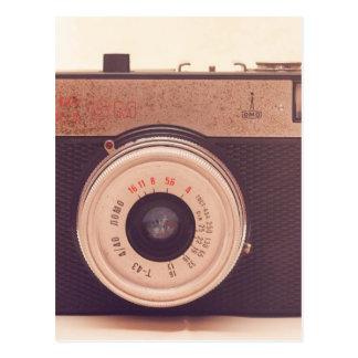 Vintage Retro Sepia-Kamera Postkarte