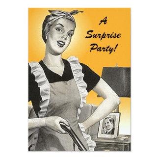Vintage Retro Überraschungs-Geburtstags-Party 12,7 X 17,8 Cm Einladungskarte