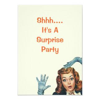 Vintage Retro Überraschungs-Geburtstags-Party Ankündigungen
