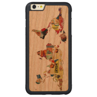 Vintage Retro | universelle Weltkarte der Carved® Cherry iPhone 6 Plus Bumper Hülle