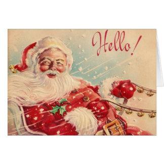 Vintage Retro Weihnachtsmann-Gruß-Karte Karte