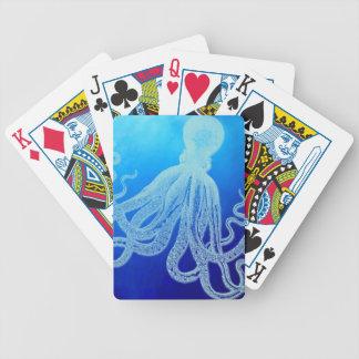 Vintage riesige Krake im tiefen blauen Ozean Bicycle Spielkarten
