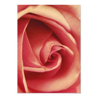 Vintage rosa Liebe-Rose 12,7 X 17,8 Cm Einladungskarte