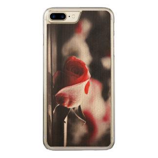 Vintage rosa Rosen-Blumen Carved iPhone 8 Plus/7 Plus Hülle