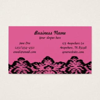 Vintage rosa Spitze-Geschäfts-Karte Visitenkarte