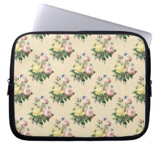 Vintage Rosen-Blumenmuster-Laptopmit blumenhülse Laptopschutzhülle