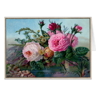 Vintage Rosen Grußkarte