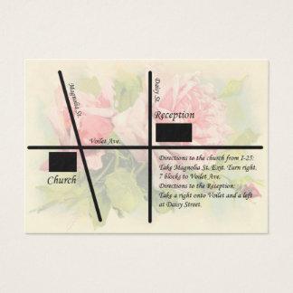 Vintage Rosen-Hochzeits-Empfangs-Karten Visitenkarte
