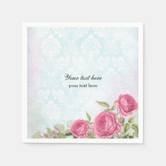 Vintage Rosen Papierservietten