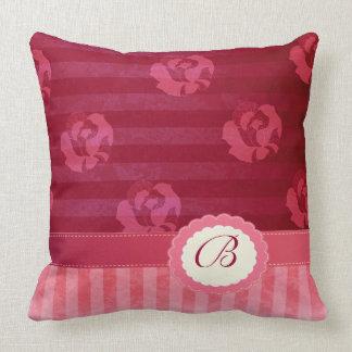 Vintage Rosenstreifen des entzückenden Chic Kissen