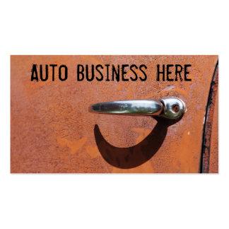 Vintage rostige orange LKW-oder Auto-Teile Visitenkarte