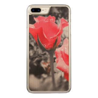 Vintage Rote Rosen Carved iPhone 7 Plus Hülle