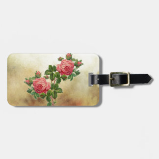 Vintage Rote Rosen Kofferanhänger