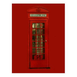 Vintage rote Telefonzelle Postkarte
