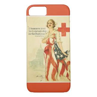 Vintage rotes Kreuz iPhone 7 Abdeckung iPhone 8/7 Hülle