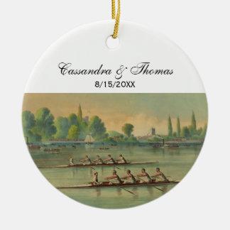 Vintage Rowers-Crew-Rennen-Regatta Keramik Ornament