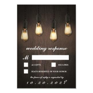 Vintage rustikale Lichterchic-Hochzeit UAWG Karten 8,9 X 12,7 Cm Einladungskarte