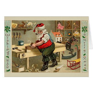 Vintage Sankt Karte
