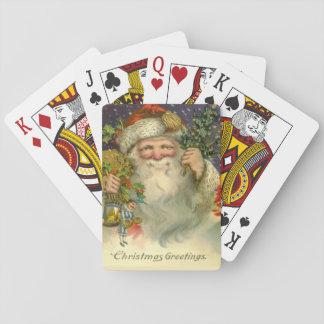 Vintage Sankt mit Spielzeug-Spielkarten Spielkarten