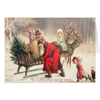 Vintage Sankt- u. Winkel-Weihnachtskarte fertigen Karte