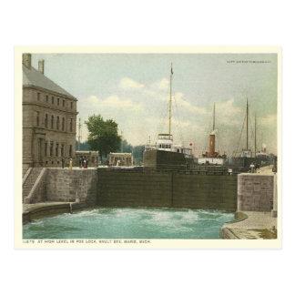 Vintage Sault Suite Marie Postkarte