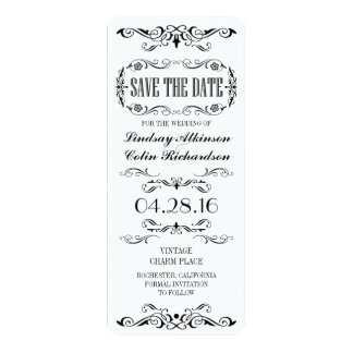 Vintage Save the Date Karten-Karte 10,2 X 23,5 Cm Einladungskarte