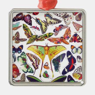 Vintage Schmetterlinge Silbernes Ornament