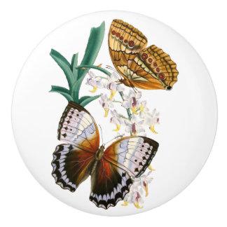 """""""Vintage Schmetterlings-"""" Keramik-Griff Keramikknauf"""