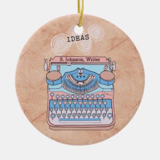 Vintage Schreibmaschine mit wirbelnden Keramik Ornament
