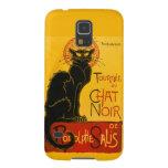 Vintage schwarze Katzen-Kunst Nouveau Le Chat Noir Hülle Fürs Galaxy S5