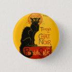 Vintage schwarze Katzen-Kunst Nouveau Le Chat Noir Runder Button 3,2 Cm