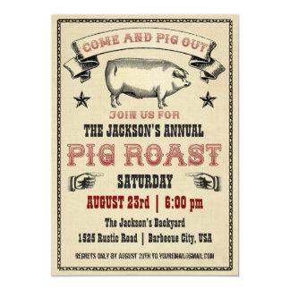 Vintage Schwein-Braten-Einladung II 12,7 X 17,8 Cm Einladungskarte